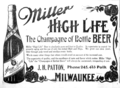 Miller High Life ad 1906.png