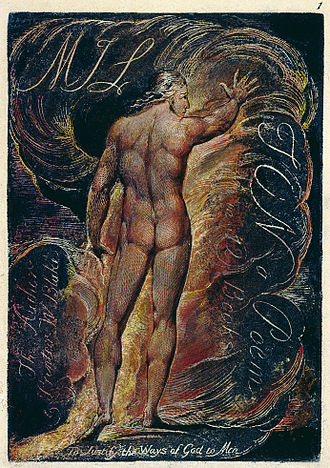 Book frontispiece - Frontispiece to William Blake's Milton a Poem (1810)