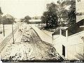 Milton station under construction, September 1929.jpg