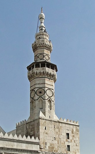 Umayyad Mosque - The Minaret of Qaitbay was constructed in 1488 on the orders of Mamluk sultan Qaitbay