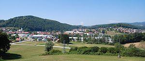 Mirna (settlement) - Image: Mirna panorama od cerkve sv. Helene