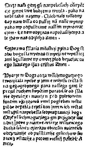 Modlitwy drukowane po polsku w r. 1475