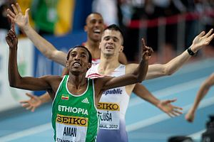 Mohammed Aman - Aman at the 2012 World Indoor Championships