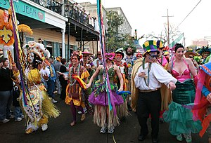Mardi Gras in New Orleans - Revelers on St. Charles Avenue, 2007