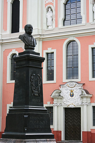 Stanisław Moniuszko - Bust of Stanisław Moniuszko in Vilnius, Lithuania