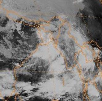 Monsoon trough - Monsoon Depression near Bangladesh
