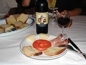 Montepulciano d'Abruzzo - Montepulciano d'Abruzzo is often paired with food.