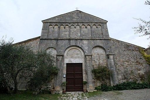 Church San Giovanni Battista a Corsano, Ville di Corsano, hamlet of Monteroni d'Arbia