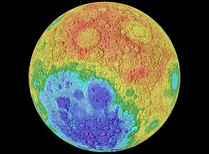 NASA World Wind - Moon - Hypsometric Map layer