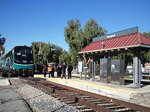 Moorpark, California - The Moorpark station for the Metrolink Ventura County Line and Amtrak Pacific Surfliner