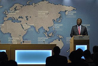 Morgan Tsvangirai - Morgan Tsvangirai speaks at Chatham House in London in 2014