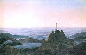Georg Friedrich Kersting - Image: Morgen im Riesengebirge (C D Friedrich)