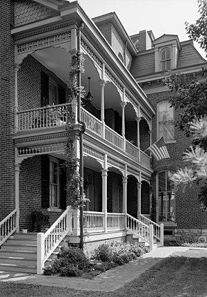 Morris–Butler House - Image: Morris Butler House porch HABS IND,49 IND,9 5