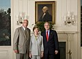 """Mrs. Laura Bush and President George W. Bush Participate in a Receiving Line Before the White House Screening of """"United 93"""" - DPLA - 2cae9e7f9801b2e146313f9c4f3e9ced.jpg"""