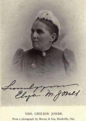 Chilion Jones - Image: Mrs Eliza Maria Jones by Murray & Son, Brockville, Ont