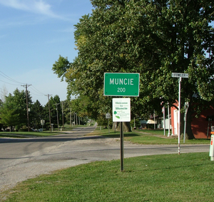 Muncie, Illinois - Looking north into Muncie