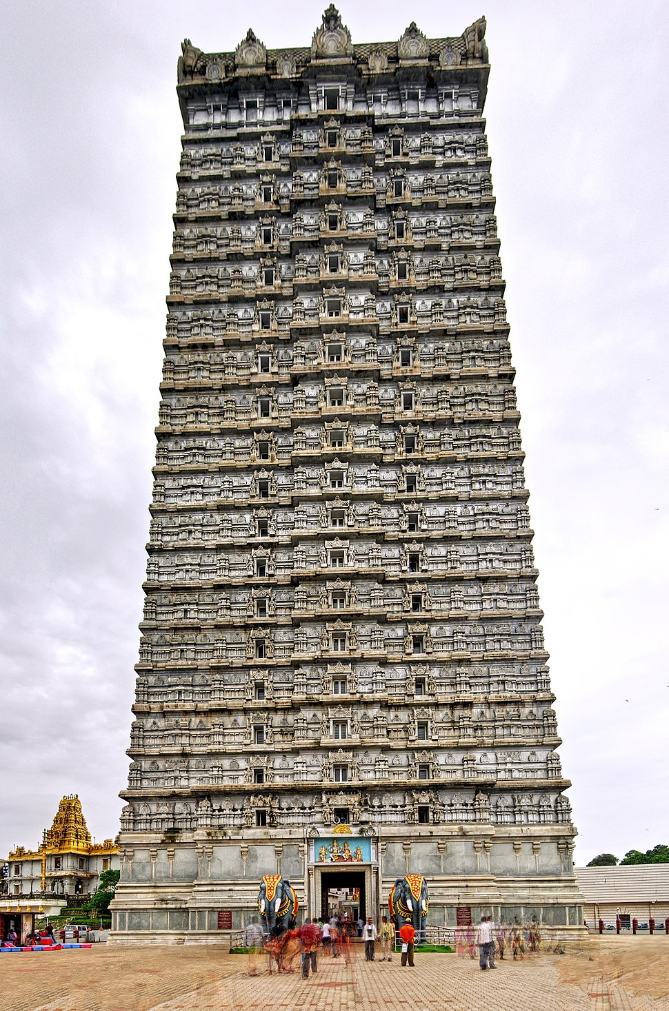 Murudeshwara raja gopura HDR, Jul 2012