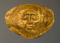 Mycene gold mask 1 NAMA Athens Greece.jpg