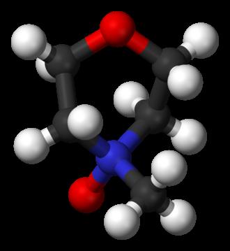 N-Methylmorpholine N-oxide - Image: N methylmorpholine N oxide 3D balls