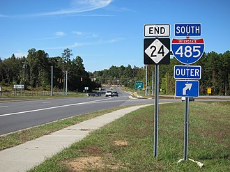 North Carolina Highway 24 - NC 24 western terminus at I-485
