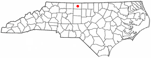 Wentworth, North Carolina - Image: NC Map doton Wentworth