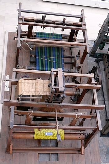English: Jacquard loom in the National Museum ...