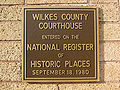 NRHP Plaque, Wilkes County Courthouse.jpg