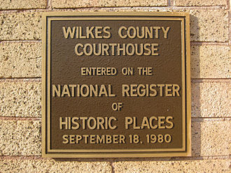 Wilkes County Courthouse (Georgia) - NRHP plaque