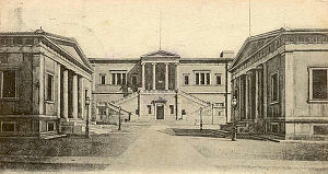 National Technical University of Athens - The historical Patision Street campus in a postcard of 1900.