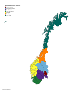 NUTS statistical regions of Norway
