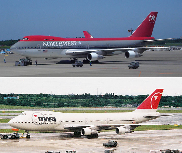 ファイル:NW B747-200 before and after.jpg
