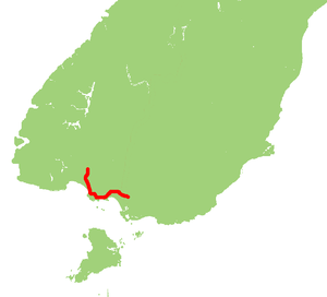 New Zealand State Highway 99 - Image: NZ SH99 map