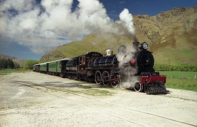 The Ab class were introduced in 1915. Over 141 of these locomotives were introduced, from three different builders. Here preserved Ab 778 hauls the Kingston Flyer. NZR Ab Class 778 hauling the Kingston Flyer.jpg