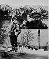 Naš prestolonaslednik Peter kot smučar na Bledu. V ozadju Otok na Blejskem jezeru 1930.jpg