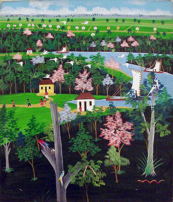An anonymous naive painter from Pernambuco: Landscape. Naif00.jpg