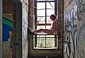 Naked man posing by the window inside an abandoned military building in Fort de la Chartreuse, Liege, Belgium (DSCF3398).jpg