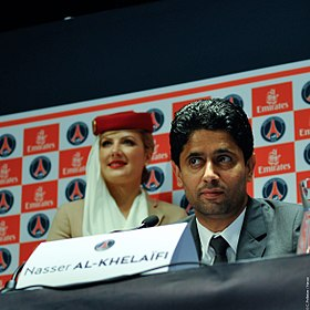 280px Nasser Al Khela%C3%AFfi%2C pr%C3%A9sident du Paris Saint Germain Paris Saint Germain FC un club qui veut devenir capital en Europe