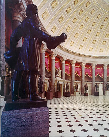 National Statuary Hall, with statue of Jason Lee, Oregon missionary, in foreground Nat stat hall 2.jpg