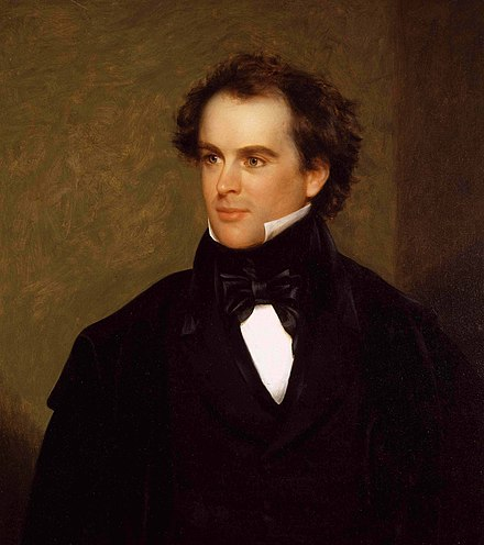 Novelist Nathaniel Hawthorne remained lifelong friends with Pierce. He wrote the glowing biography The Life of Franklin Pierce in support of Pierce's 1852 presidential campaign. Nathaniel Hawthorne.jpg