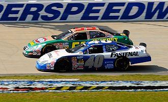 Bryan Clauson - Clauson (40) racing Marcos Ambrose at Nashville in 2008
