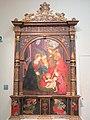 Natività con angeli msicanti, Annunciazione e ageli adoranti il Sacramento (predella) di Gaudenzio Ferrari (bott. di).JPG