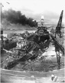 Naval photograph documenting the Japanese attack on Pearl Harbor, Hawaii which initiated US participation in World... - NARA - 295979.tif
