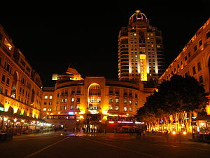 English: Nelson Mandela Square in Sandton, Joh...