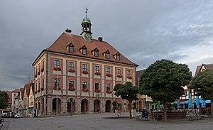 Neustadt an der Aisch - Image: Neustadt an der Aisch, das Rathaus Dm D 5 75 153 55 foto 10 2016 08 05 19.52