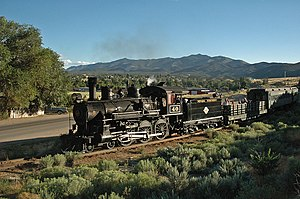 Nevada Northern Railway - Image: Nevada Northern excursion train, Ely 2005