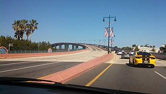 Broadway Bridge (Daytona Beach) - The bridge after 2015 repaint.