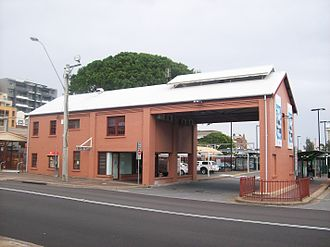 Newcastle railway station, New South Wales - Image: Newcastle railway station, entrance to bus terminal