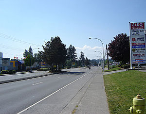 King George Boulevard - King George Blvd, looking south from 72nd Ave. in Newton Town Centre