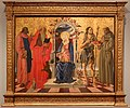 Nicola di maestro antonio d'ancona, madonna col bambino in trono tra santi, 1472, 01.jpg