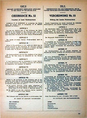 Ordinance No. 55, with which on November 22, 1946 the British military government founded the state Lower Saxony retroactively to November 1, 1946.